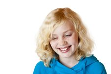 Free Beautiful Child With Blond Hair Smiles Happy Royalty Free Stock Photo - 18164825