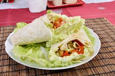 Fresh Diet Kebab Stock Photo
