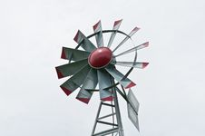 Free Small Windmill With Grey Sky Royalty Free Stock Photography - 18164867