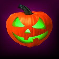 Free A Ceramic Halloween Jack O Lantern Pumpkin. EPS 8 Stock Photos - 18164923