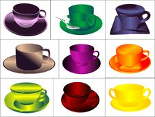 Free Set A Cup Of Drink Stock Images - 18165044