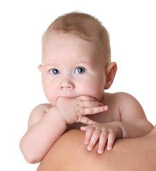 Free Baby S Face Close Up Stock Photos - 18165103