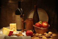 Free Wine And Apples Royalty Free Stock Photography - 18165147