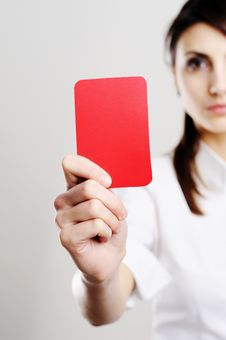 Free Red Card Royalty Free Stock Photos - 18165608