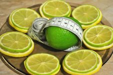 Free Lemon And лайм Help To Dump Excess Weight Stock Photo - 18166150