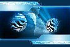 Free Blue Abstract Background Royalty Free Stock Photo - 18166315