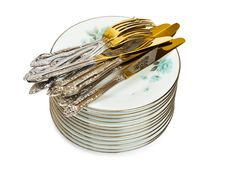 Free Stack Of Dishware Royalty Free Stock Photography - 18167147