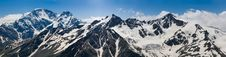 PANORAMIC VIEW FROM ELBRUS Royalty Free Stock Photography