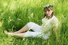 Free Girl In Wreath Royalty Free Stock Photography - 18167947