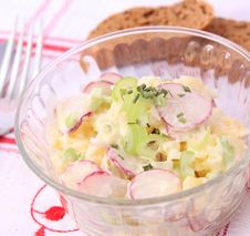 Free Fresh Salad Of Potatoes And Radish Stock Photos - 18168413
