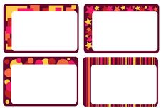 Free Set Of Colorful Frames Stock Image - 18168421