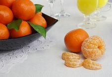 Free Mandarines Royalty Free Stock Photo - 18168805