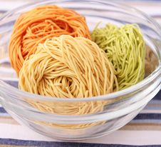 Free Colourful Noodles Royalty Free Stock Photos - 18168958