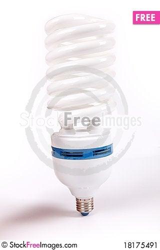 Free Lamp, Energy Fluorescent Light Bulb Stock Image - 18175491