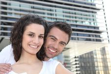 Free Smiling Couple Outdoors Stock Photography - 18171662