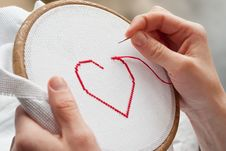 Free Heart Embroidery Stock Photos - 18173593