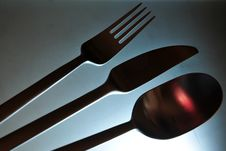 Stainless Steel Cutlery Set Stock Photos