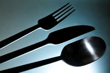 Stainless Steel Cutlery Set Royalty Free Stock Images