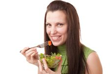 Free Girl With Salad Stock Image - 18174411