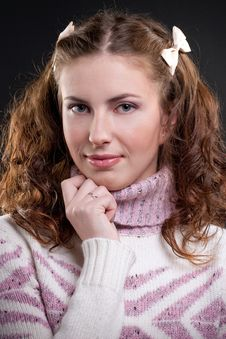 Free Girl In Sweater Royalty Free Stock Images - 18174439