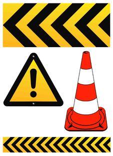 Free Warning Sign Royalty Free Stock Image - 18174596
