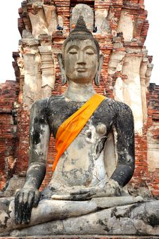 Free Ruin Buddha At Wat Mahathat Royalty Free Stock Photos - 18174768