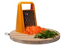 Free Grated Carrots And Parsley Royalty Free Stock Image - 18175176