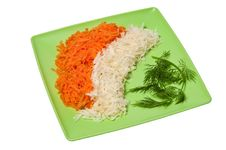 Free Grated Carrots, Celery And Dill Royalty Free Stock Photography - 18175187