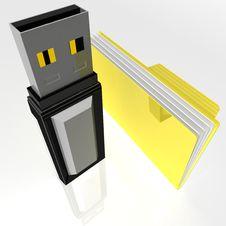 Yellow Folder Royalty Free Stock Image