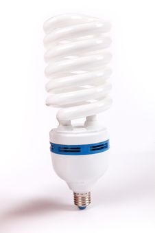 Lamp, Energy Fluorescent Light Bulb Stock Image