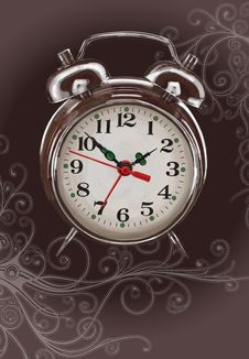 Free Alarm Clock -  Color Paint & Floral Ornament Stock Photography - 18175532
