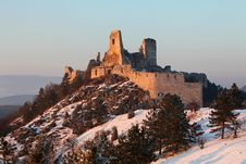 Free The Ruins Of Castle Cachtice Royalty Free Stock Photo - 18175765