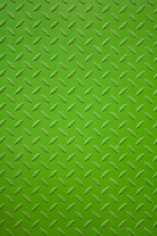 Vivid Green Metal Plank Surface Royalty Free Stock Photography