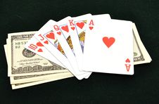 Free Royal Flush From The Poker Cards Stock Photos - 18176073