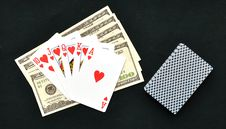Free Royal Flush From The Poker Cards Royalty Free Stock Image - 18176106