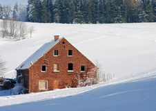 Free Brick Cottage During The Winter Royalty Free Stock Photography - 18176877