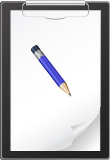 Free Clipboard With Blank Paper Stock Photography - 18177042