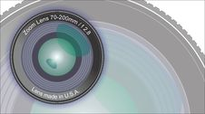 Free Dslr Lens - Front View - Artwork Stock Photography - 18177062