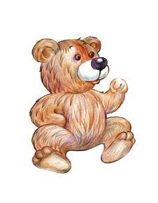 Free Cute Brown Teddy Bear Illustration Stock Photos - 18177063