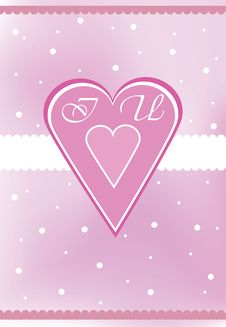 Free Valentine Card With Heart Shape Royalty Free Stock Images - 18177099
