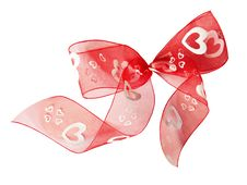 Free Red Ribbon Bow Royalty Free Stock Photography - 18177677