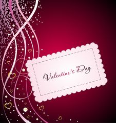Free Vector Valentine Background With Heart Royalty Free Stock Photography - 18178147