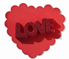 Free Frilly Heart With Love Royalty Free Stock Image - 18178766