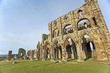 Free Ancient English Abbey On The Coast Royalty Free Stock Photography - 18178957