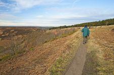 Free Man Walking Through The Countryside Stock Photos - 18179053