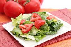 Free Fresh Salad With Tomatoes Stock Images - 18179214
