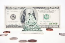 Dollar Pyramid Stock Image