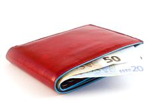Free Red Wallet Stock Photography - 18179762