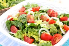 Free A Fresh Salad With Tomatoes Royalty Free Stock Images - 18179999