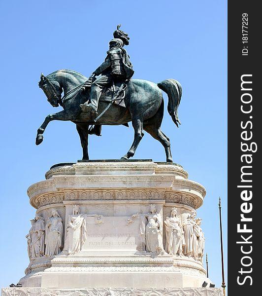 Monument Vittorio Emanuele in Rome, Italy